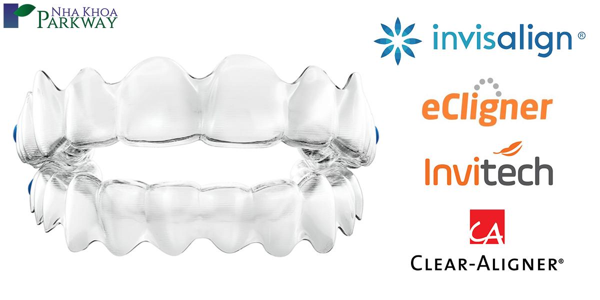 so sánh niếng răng trong suốt Invisalign và niềng răng trong suốt khác